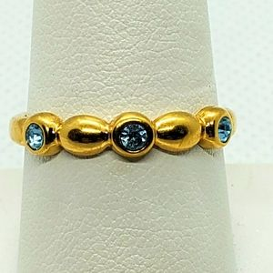 Gold & Blue Ring